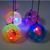 6.5CM crystal fish ball with string cartoon belt small fish elastic bouncing ball luminous flash magic ball