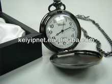 gift box packed wholesale antique pocket watch japan movt quartz pocket watch