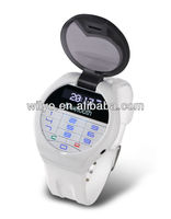 A1 Small Watch Mobile Phone Worlds Smallest Blueooth Headset Caller Display