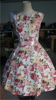 bestdress walson New Vintage 1950s Style Floral Rose Pattern Swing Circle Party Dress Plus Size