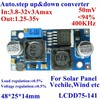 Atuomatically step up and down voltage converter dc 3.8-32v 3A to 1.25-35V 94% 24v to 12v ,for solar panel,wind energy etc.