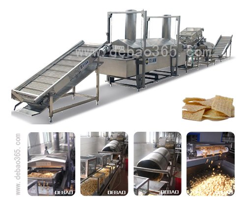 automatic frying machine for corn puff snacks popcorn frying system