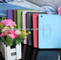 new arrival hot selling leather stand case cover for ipad mini two folding case cover skin