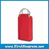 Red Colour Double Bottle Carrier Custom Neoprene Tote Bag