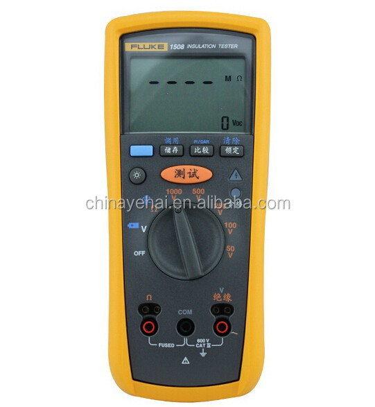 Original Fluke-1508 1000V Digital Insulation Resistance Tester