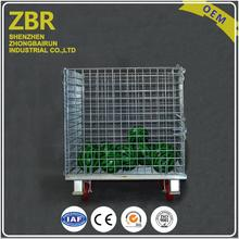 Galvanized Euro Wire Mesh Storage Crate Steel Metal Stillages Warehouse Collapsible Containers