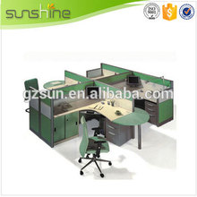 Hot Selling Latest Fashion 4 Person Offfice Workstation Furniture