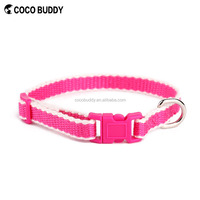 New design hot pink color bamboo dog cat collar and leads in hot selling