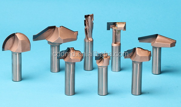 Pcd end mill engraving woodworking tools metal carbide cnc stone diamond insert cutting tool