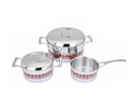 Two-color way pattern for cookware set with good price
