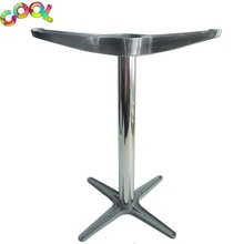 Outdoor Furniture Leg Modern Designs Cafe Restaurant Coffee Dinning Table Base Brushed Aluminum Table Legs