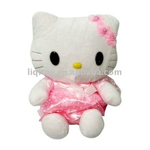 Pink cute hello kitty plush toy