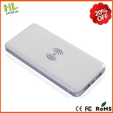 2015 Ultra-thin metal 5000mah wireless power bank 5000mah