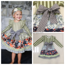 Kids party wear dresses for girls baby girl summer dress wholesale new arrival popular boutique dress for toddler girls