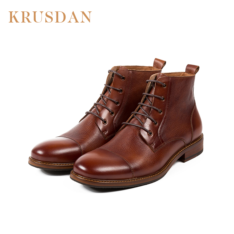 Fashion man leather china oem brand wholesale shoe lace up cow skin men shoes motorcycle leather ankle <strong>boot</strong>