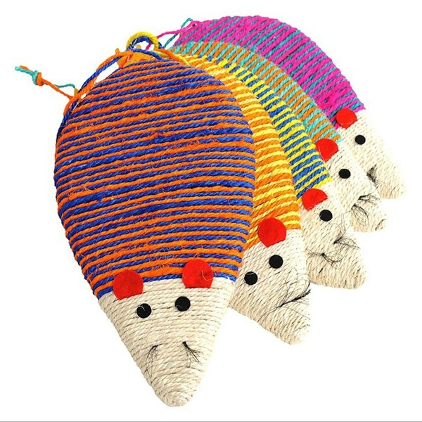 New mouse design for cat scratching toy plush sisal pet