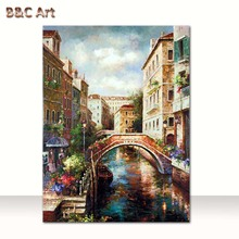 Handmade oil paintings buildings famous artists of Venice