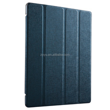 pu synthetic skin four folds leather case for iPad air 2 smart cover