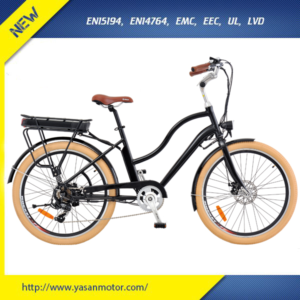 "SHENGYI 250W City Electronic Bike For Adults With KENDA 26"" x 2.10 Tire"