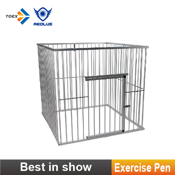 EP-4424 Outdoor Folding Square Dog Play Pen Aluminum Pet Show Exercise Pen for Different Breeds