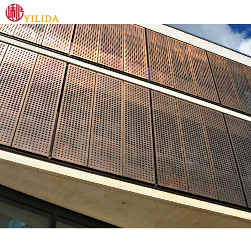 Aluminum external perforated metal wall cladding