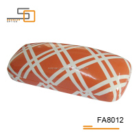 Orange PU leather shinning good quality hard glasses case