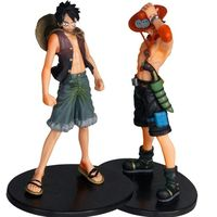 (Wholesale) Hot Anime ONE PIECE Action Figure Luffy & Ace Hot Japanese Anime PVC Action Figures Sets of 2pcs