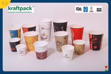 Custom hot paper cups printed coffee paper cups for starbuck hot drink