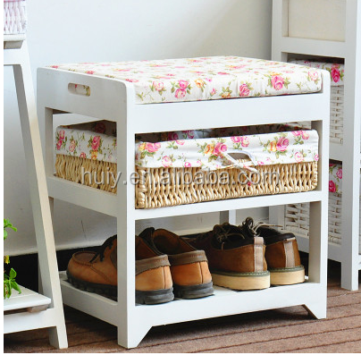 China wholesale American style wooden shoe rack for men