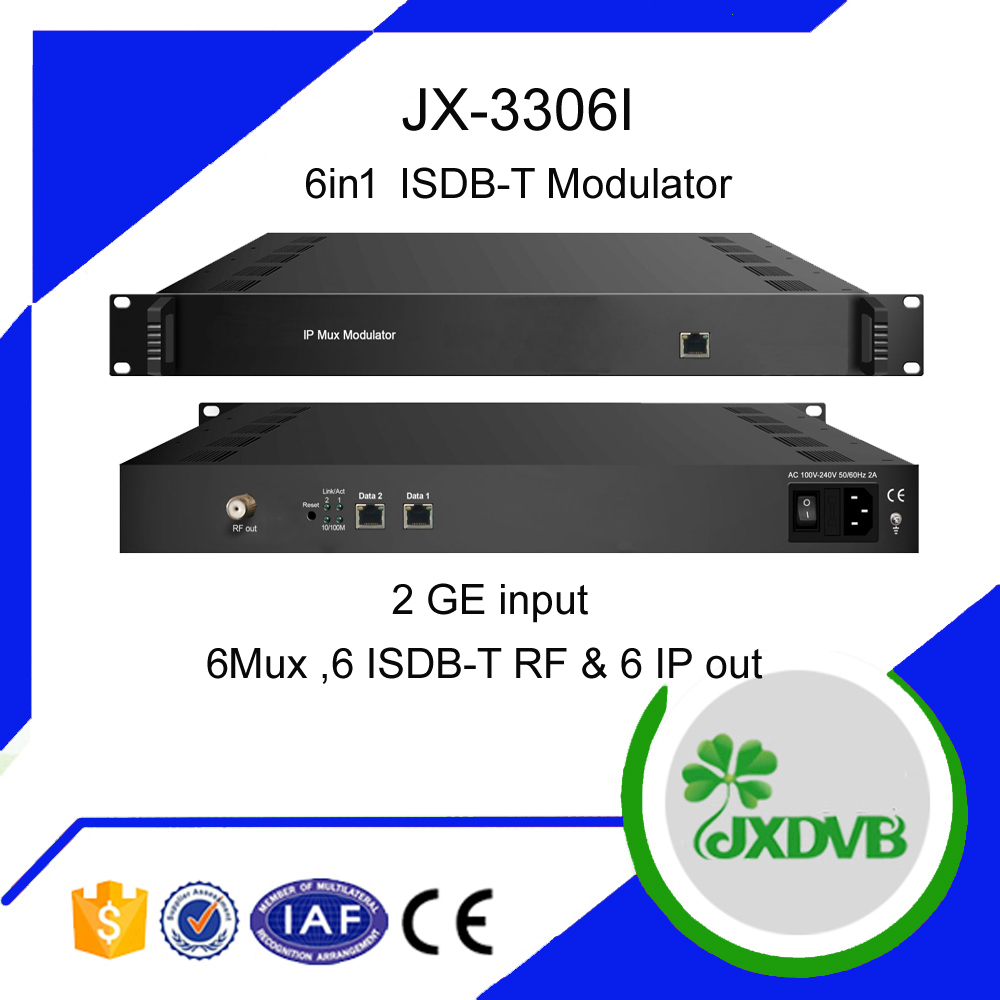 6Frequencies out IP to ISDB-T Modulator