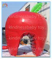 Hot selling giant inflatable red apple for advertising,cheap inflatable apple toy model for sale