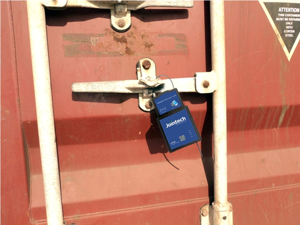 GPS sealing lock tracker for container trailer tracking and cargo anti theft solution