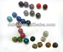 High Quality Polymer clay Sparkling Crystal Tongue Piercing Ball With Gum Coating Tongue Piercing Accessories