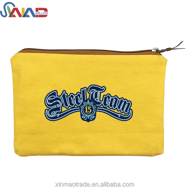 China Factory Wholesale Cotton Canvas Cosmetic Bag ,Zipper Travel Cosmetic Pouch Bag OED Production