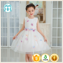 Baby 2017 Flower Children's Girl Costumes For kids Princess Party Wedding Dresses Girls Clothes Teen flower girl dress