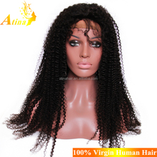 "High Quality 30"" Inch Malaysian Undetectable Wig 100% Virgin Human Hair Kinky Curly Glueless Full Lace Wig"