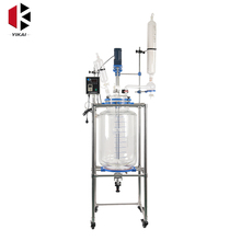 Laboratory 2L Double Layer Vacuum Jacketed Glass Reactor