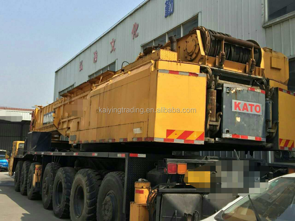 Used Hydraulic KATO 160 Ton Crane For Sale / 5 Boom Section /1997 Year Manuefacuture