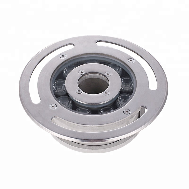IP68 rgb tabletop remote controlled submersible fountain led ring lights
