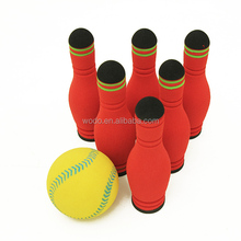hot sale 2017 cheap price nbr foam multi color kids sport toy decorated bowling pins