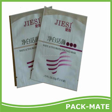 2015 Popular Item Face Mask Plastic Bag/aluminum Foil Facial Mask Bag