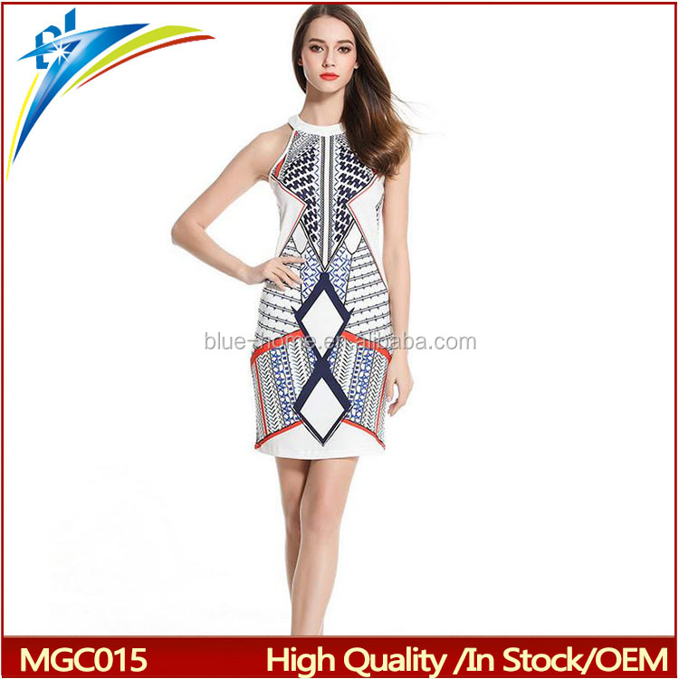 2017 One Piece Sexy Fashion Stylish Printed Women Dress,Summer Dress