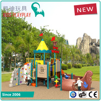 Safety plastic kids playground equipment outdoor