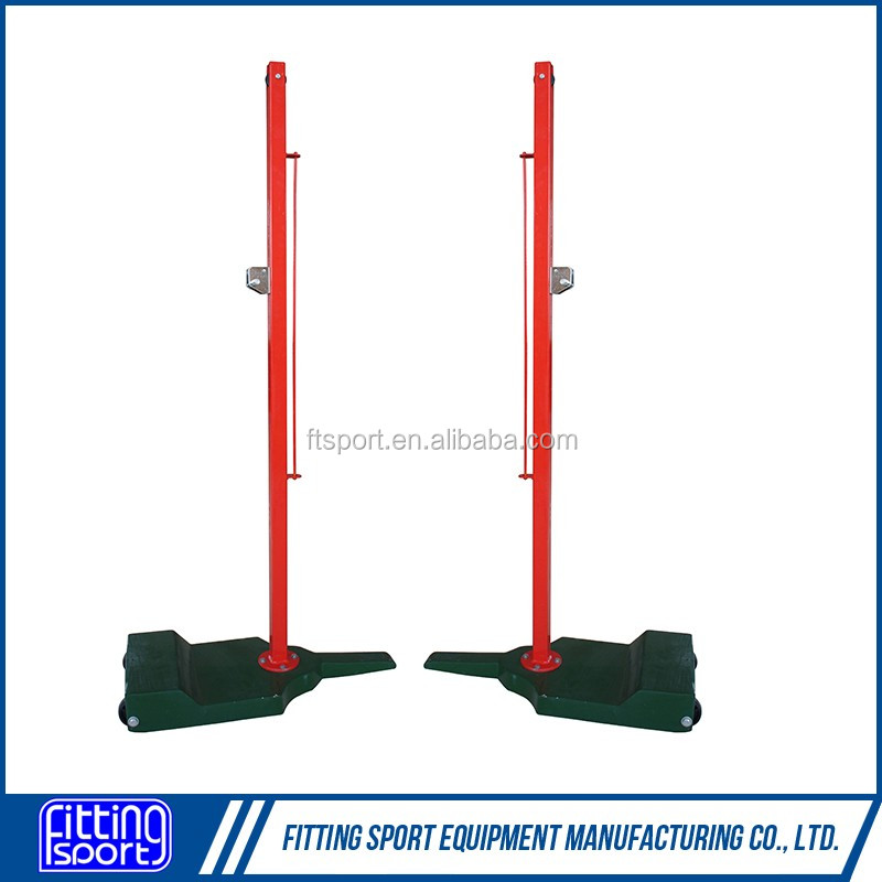 Heavy-duty portable badminton net and post system