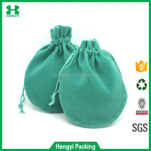Wholesale custom printed rope drawstring jewelry velvet pouch/ China factory mini gift packing bags
