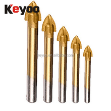round shank cross head drill bit drill bit sharpener for ceramic tile YG6X tip 3mm 20mm