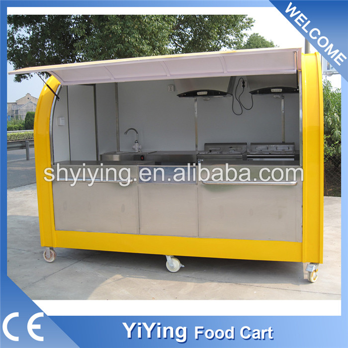 YY-FS290A Shanghai factory fast custom made food truck for sale mobile food carts