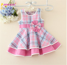 2015 vintage flower girl dresses Korean children girl dress good quality pink daily girl wear clothing with cheap price