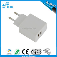 CE,RoHS,FCC Approved multi pin mobile phone charger , ODM/OEM quick deliver power sockets with US EU plug