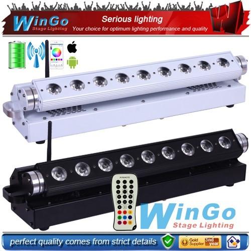 Wireless dmx Battery Powered led slim Par light w 9*15w RGBWA 5-in-1 wash Light DJ KTV Bar Decor Light